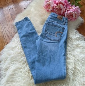 American Eagle girls skinny jegging jeans Mid rise